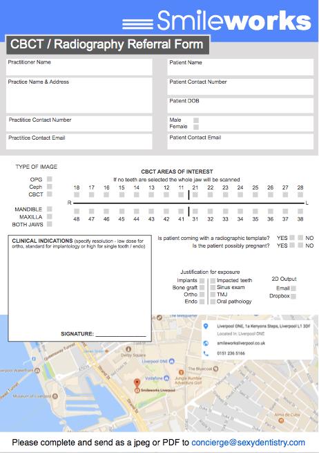 Imaging referral form