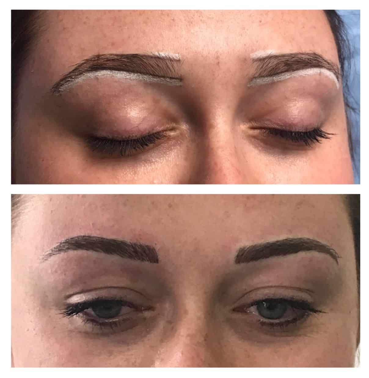 Hairstroke style brow