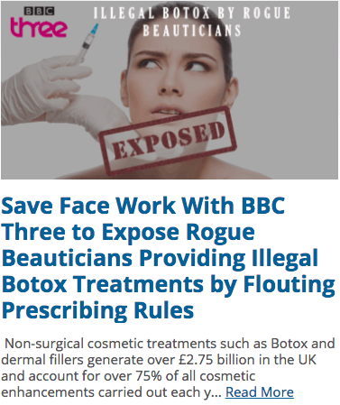 Rogue Beautician flouting prescribing rules