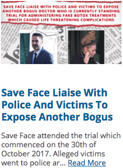 Save face working with police t expose bogus doctor on trial