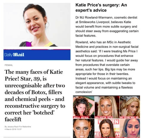 Katie price, an expert's advice