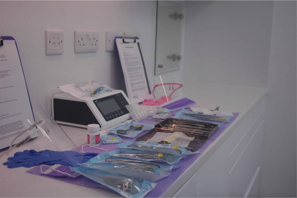 Surgical extraction setup