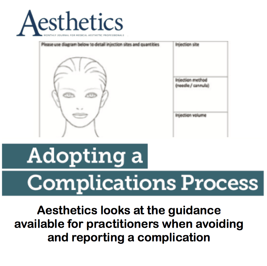 Aesthetics Journal <br/> <br/> Adopting a complications process