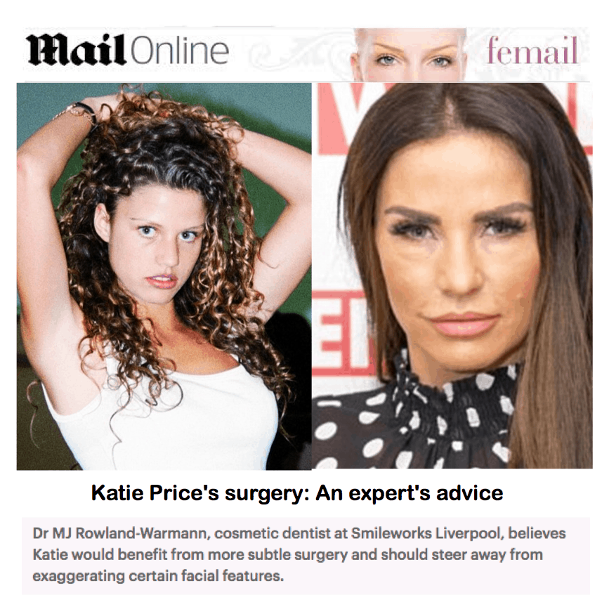 Mail Online - Femail <br/> <br/> Katie Price's surgery: An expert's advice