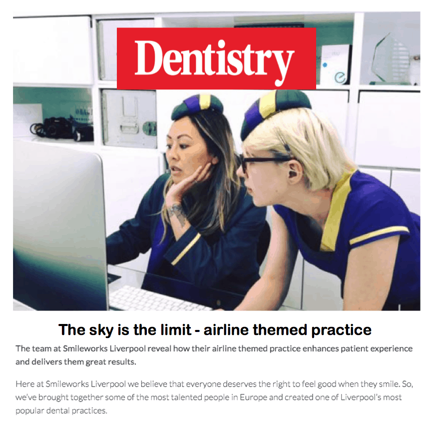 Dentistry magazine <br/> <br/> The sky is the limit – airline themed practice