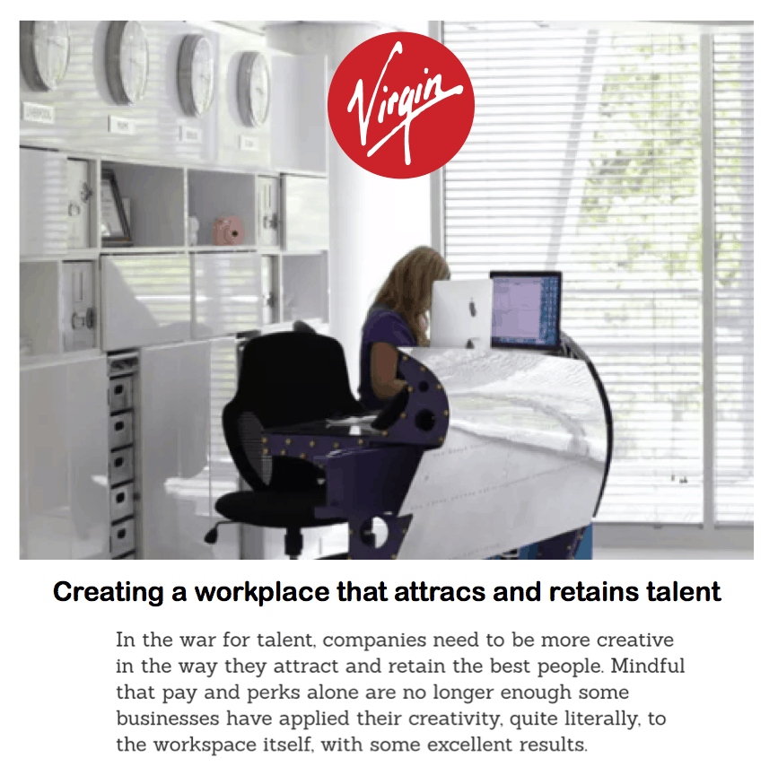 Virgin <br/> <br/> Creating a workplace that attracts and retains talent