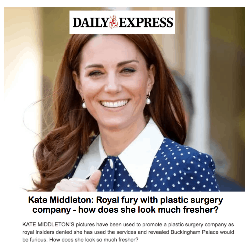 Daily Express <br/> <br/> Kate Middleton: how does she look much fresher?