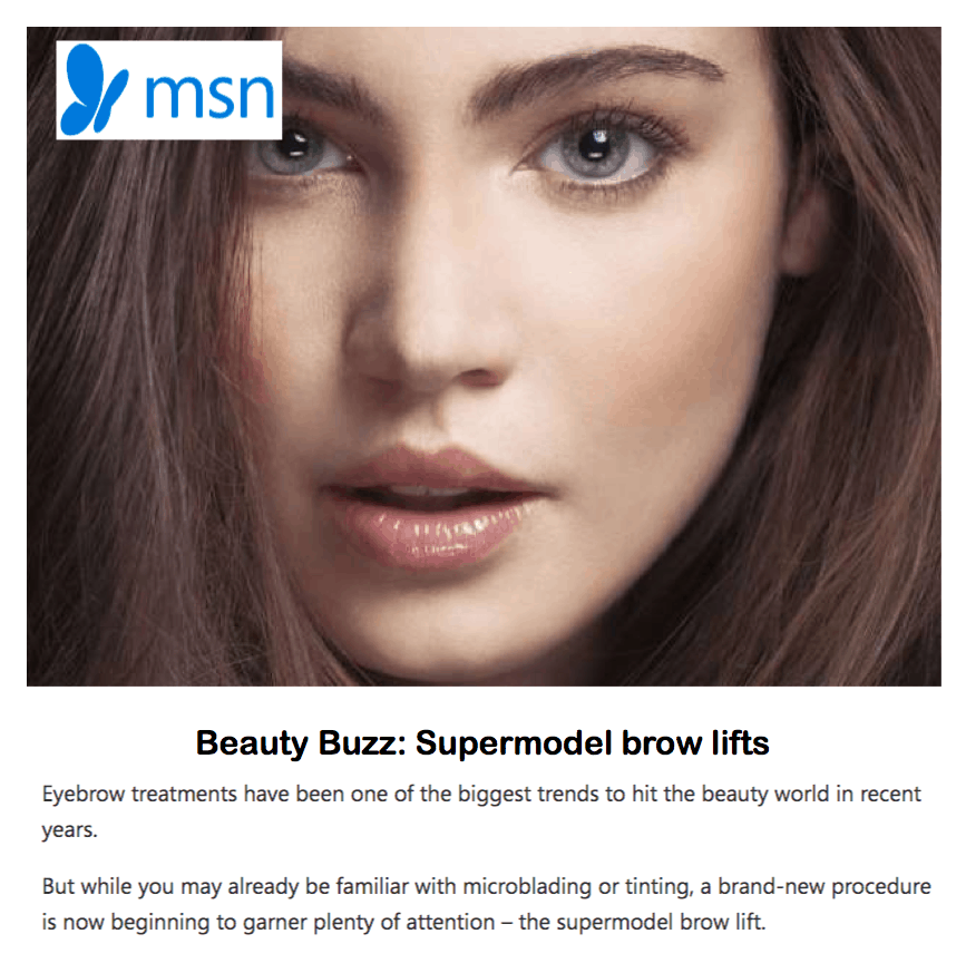 MSN Lifestyle <br/> <br/> Beauty buzz: Supermodel brow lifts