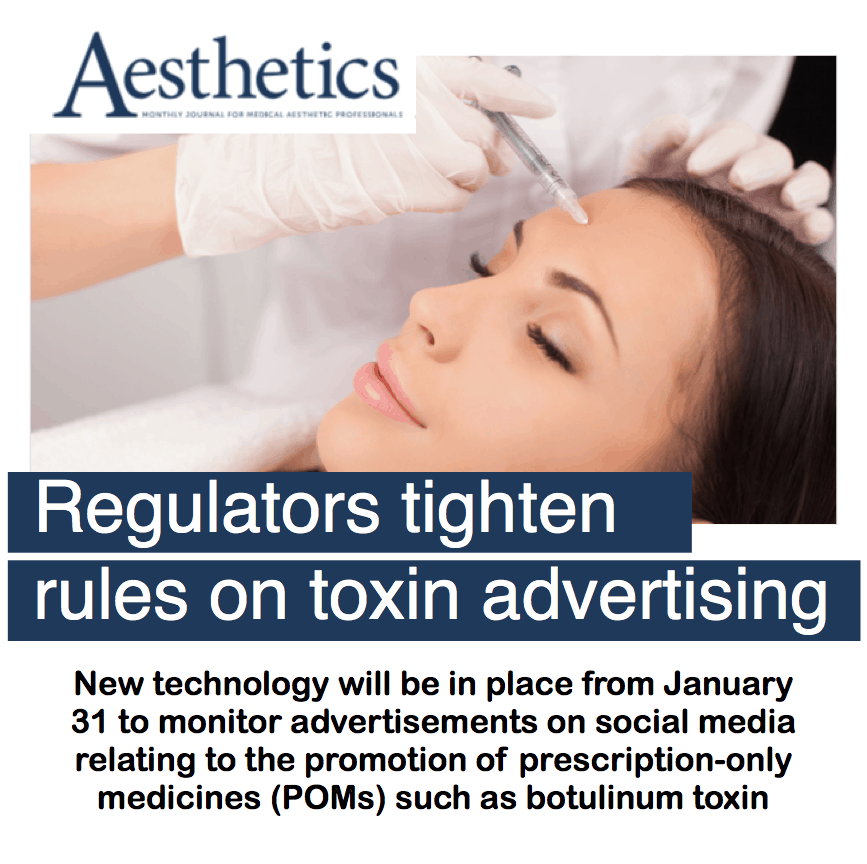 Aesthetic Journal <br/> <br/> Regulators tighten rules on toxin advertising