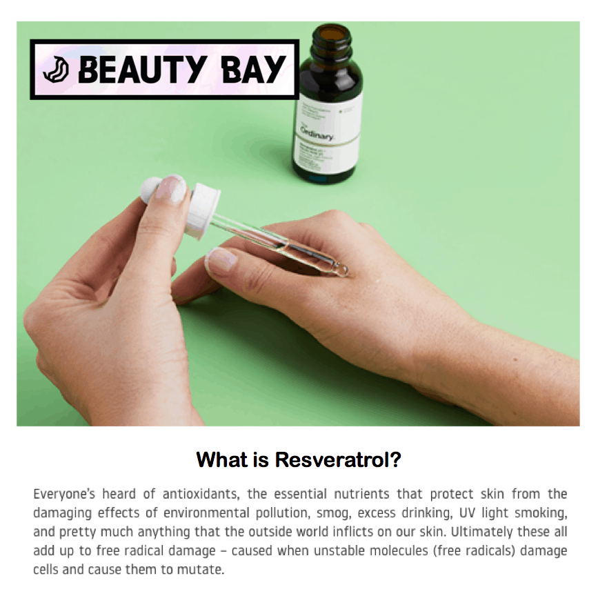Beauty Bay <br/> <br/> What is Resveratrol?