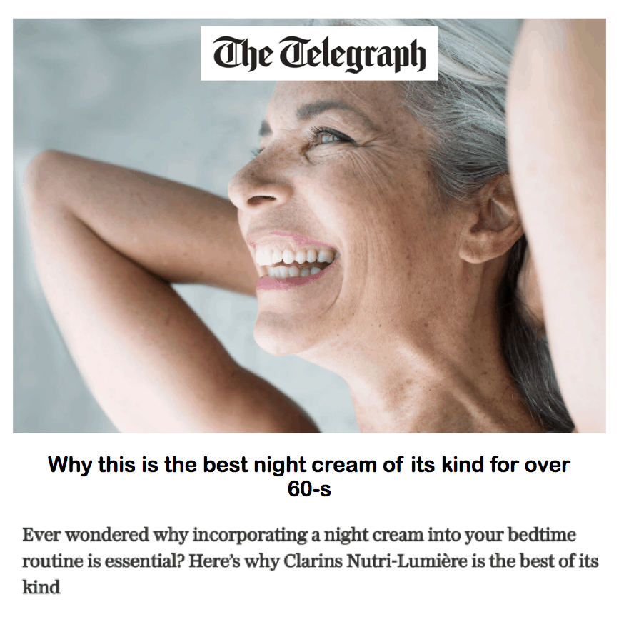 The Telegraph <br/> <br/> Why this is the best night cream of its kind for over-60s